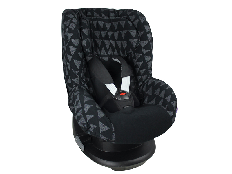 dooky Seat Cover Group 1 - black  tribal