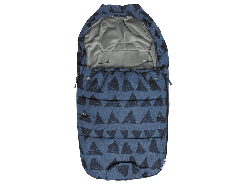 dooky Footmuff S - bleu tribal