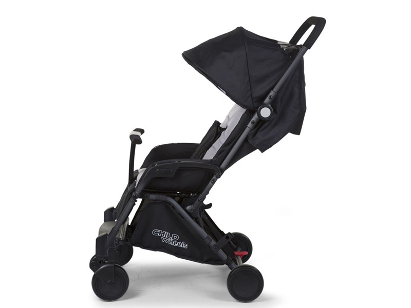 childhome NEW T-COMPACT BLACK STROLLER +adapter