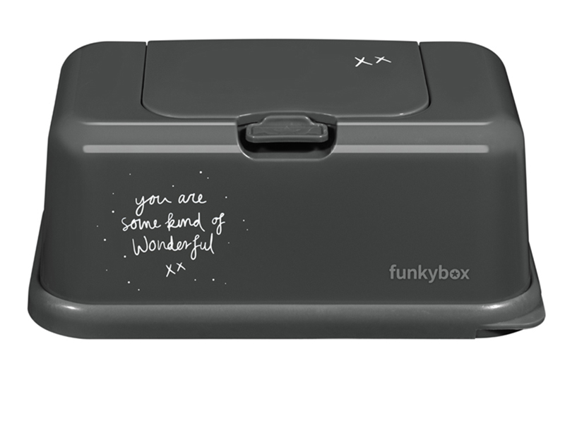 funky box Vochtige doekjes doos Wonderful Dark Grey
