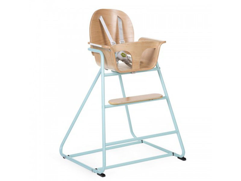 childhome IRONWOOD BABY STOEL NATURAL + mint groen