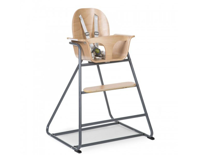 childhome IRONWOOD BABY STOEL NATURAL + ANTRACIET