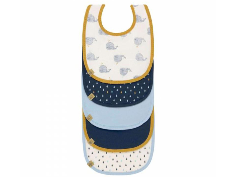 Lassig Waterproof bibs value pack little water whale