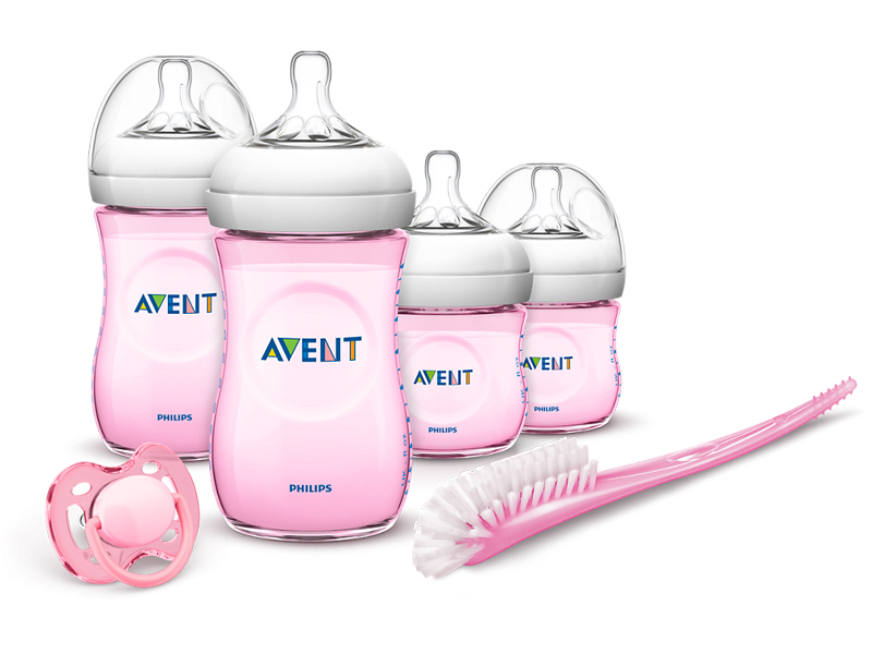 Avent new born starters set naturel roos