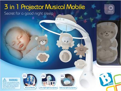 Infantino Infantino - WOM - Musical 3 in 1 projector mobile creme Kopen
