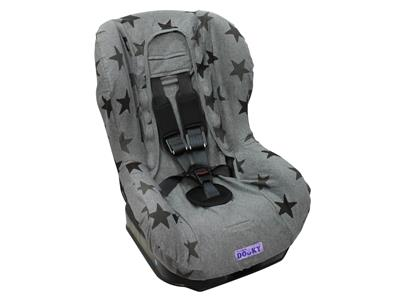 dooky Seat Cover Group 1 - Grey Stars Kopen