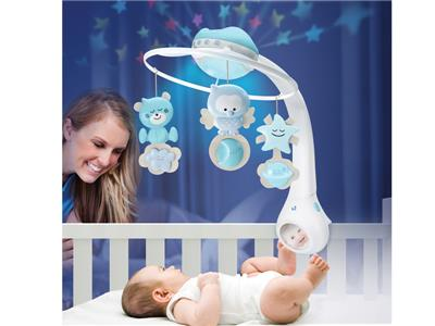 Infantino Infantino - WOM - Musical 3 in 1 projector mobile Blue Kopen