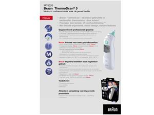 Braun Oorthermometer digitaal  thermoscan IRT-6020