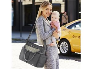Skip hop Chelsea downtown chic diaper satchel charcoals shimmer